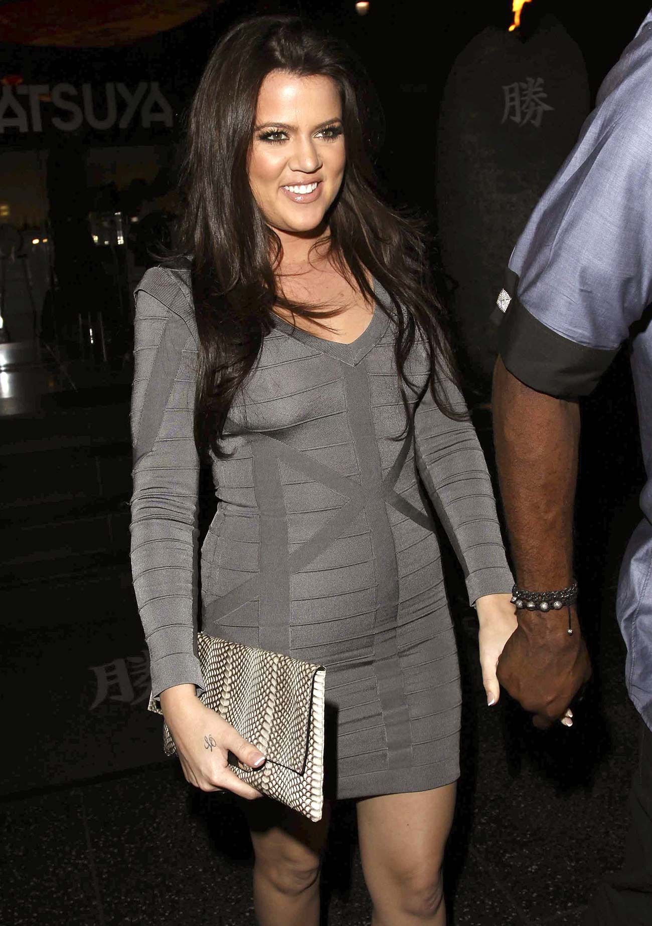 Khloe was mocked for this bodycon dress